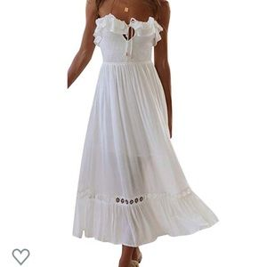 White strapless or halter dress  New without tags